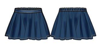 Το σκούρο μπλε τζιν καηκε τη φούστα Στοκ Εικόνες