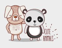 Το σκυλί και το panda αντέχουν ελεύθερη απεικόνιση δικαιώματος