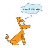 Το σκυλί κινούμενων σχεδίων σκέφτεται Στοκ εικόνα με δικαίωμα ελεύθερης χρήσης