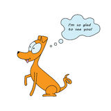 Το σκυλί κινούμενων σχεδίων σκέφτεται Στοκ Φωτογραφίες