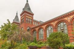Το σμιθσονιτικό κτήριο Εθνικών Μουσείων Στοκ Φωτογραφίες