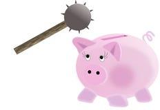 το σπάσιμο ανοίγει τη piggy τράπεζά σας Στοκ φωτογραφίες με δικαίωμα ελεύθερης χρήσης