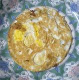 Το σπίτι έκανε το τηγανισμένο αυγό Στοκ Εικόνες