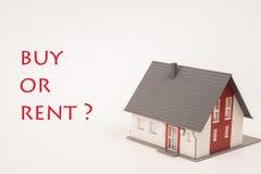 Το σπίτι αγοράζει ή νοικιάζει Στοκ Εικόνες