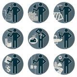 Το σπίτι αναδιαμορφώνει το σύνολο εργαζομένων υπηρεσιών Στοκ εικόνες με δικαίωμα ελεύθερης χρήσης