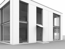 το σπίτι απομονώνει σύγχρ&omicron Στοκ Εικόνες