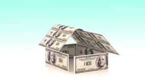 Το σπίτι αποτελείται από τους λογαριασμούς μετρητών, η έννοια της επένδυσης στην κατασκευή, δαπάνες χρημάτων για την κατασκευή, c φιλμ μικρού μήκους