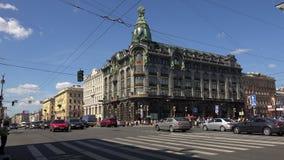 Το σπίτι βιβλίων στην Αγία Πετρούπολη 4K απόθεμα βίντεο