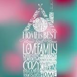 Το σπίτι είναι καλύτερα σπίτι-διαμορφωμένη χέρι-εγγραφή Στοκ Εικόνα