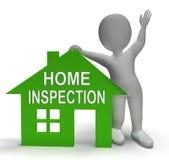 Το σπίτι εγχώριας επιθεώρησης παρουσιάζει ότι εξετάστε την ιδιοκτησία ελεύθερη απεικόνιση δικαιώματος