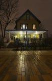 Το σπίτι ιστορίας Χριστουγέννων Στοκ φωτογραφία με δικαίωμα ελεύθερης χρήσης