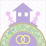 Το σπίτι και αγαπά τη βάση της οικογενειακής ευτυχίας Στοκ φωτογραφίες με δικαίωμα ελεύθερης χρήσης