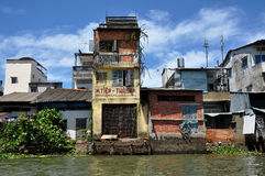 Το σπίτι καλυβών μπορεί μέσα Tho, Mekong δέλτα, Βιετνάμ Στοκ εικόνες με δικαίωμα ελεύθερης χρήσης