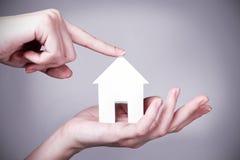 Το σπίτι ονείρου σας υπό μορφή μελλοντικών στόχων Στοκ Εικόνα