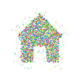 Το σπίτι περιβάλλει το εικονίδιο Στοκ φωτογραφία με δικαίωμα ελεύθερης χρήσης