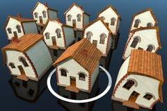 το σπίτι στεγάζει άλλοι έ&kappa Στοκ Εικόνα