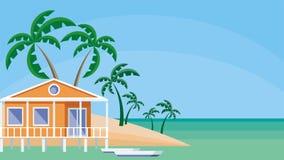 Το σπίτι στην ακτή ελεύθερη απεικόνιση δικαιώματος