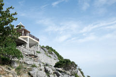 Το σπίτι στον απότομο βράχο Στοκ φωτογραφία με δικαίωμα ελεύθερης χρήσης