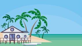 το σπίτι στο νερό ελεύθερη απεικόνιση δικαιώματος