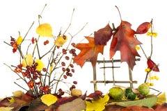 το σπίτι φθινοπώρου απομόν& Στοκ Εικόνες