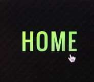 Το σπίτι χτυπά το κουμπί Στοκ εικόνα με δικαίωμα ελεύθερης χρήσης