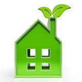 Το σπίτι Eco παρουσιάζει περιβαλλοντικό σπίτι Στοκ φωτογραφία με δικαίωμα ελεύθερης χρήσης