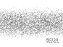 Το σπινθήρισμα ακτινοβολεί σύνορα που απομονώνονται στο λευκό Το ασημένιο ορθογώνιο ακτινοβολεί κομφετί, διανυσματική σκόνη Στοκ φωτογραφία με δικαίωμα ελεύθερης χρήσης