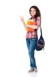 το στενό κορίτσι αυξήθηκε το σπουδαστή Στοκ εικόνα με δικαίωμα ελεύθερης χρήσης