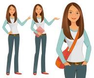 το στενό κορίτσι αυξήθηκε το σπουδαστή Στοκ εικόνες με δικαίωμα ελεύθερης χρήσης