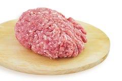 το στενό κρέας που κομματιάζεται προετοιμάζει έτοιμο επάνω Στοκ εικόνες με δικαίωμα ελεύθερης χρήσης