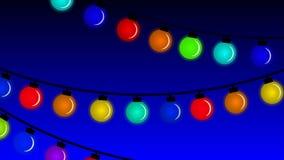 Το στεφάνι του κίτρινου φθινοπώρου ο λαμπτήρας των οδηγήσεων Χριστουγέννων ελεύθερη απεικόνιση δικαιώματος