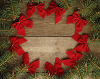 Το στεφάνι Χριστουγέννων στοκ φωτογραφία