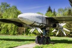 Το στρατηγικό βομβαρδιστικό αεροπλάνο TU-95 αντέχει Στοκ Φωτογραφία