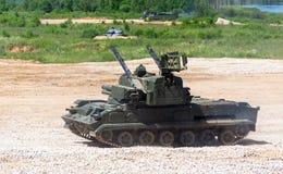 Το στρατιωτικό όχημα Στοκ Εικόνα