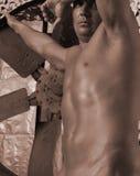 το στρατόπεδο μποτών κοιτάζει επίμονα στοκ φωτογραφία με δικαίωμα ελεύθερης χρήσης