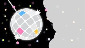 Το συμβαλλόμενο μέρος Disco προσκαλεί το πρότυπο καρτών Στοκ φωτογραφία με δικαίωμα ελεύθερης χρήσης