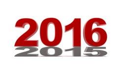 το 2015 συμπιέζεται μέχρι νέο το 2016 Στοκ φωτογραφία με δικαίωμα ελεύθερης χρήσης