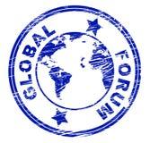 Το σφαιρικό φόρουμ σημαίνει τα κοινωνικές μέσα και την επικοινωνία ελεύθερη απεικόνιση δικαιώματος