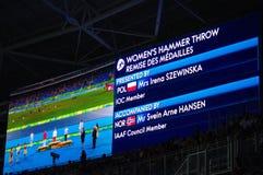 Το σφυρί των γυναικών αθλητισμού ρίχνει σε Rio2016 Στοκ εικόνες με δικαίωμα ελεύθερης χρήσης