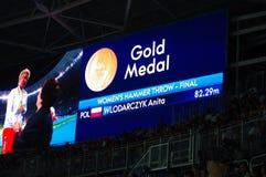 Το σφυρί των γυναικών αθλητισμού ρίχνει σε Rio2016 Στοκ εικόνα με δικαίωμα ελεύθερης χρήσης