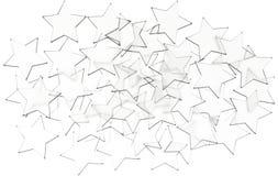 Το σχέδιο αστεριών που απομονώνεται στο άσπρο υπόβαθρο τρισδιάστατη απεικόνιση στοκ εικόνα με δικαίωμα ελεύθερης χρήσης