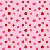 Το σχέδιο εικονοκυττάρου με το μήλο και τη φράουλα επίσης corel σύρετε το διάνυσμα απεικόνισης Στοκ φωτογραφίες με δικαίωμα ελεύθερης χρήσης