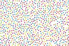 Το σχέδιο φεστιβάλ με τον κύκλο χρώματος ακτινοβολεί, κομφετί Τυχαίο, χαοτικό σημείο Πόλκα επίσης corel σύρετε το διάνυσμα απεικό Στοκ Εικόνα