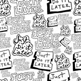 Το σχέδιο χεριών το κάνει ακριβώς αργότερα άνευ ραφής σχέδιο doodle Στοκ φωτογραφίες με δικαίωμα ελεύθερης χρήσης