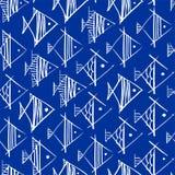 Το σχέδιο ψαριών παραδίδει κοντά τη μορφή rhombuses διανυσματική απεικόνιση