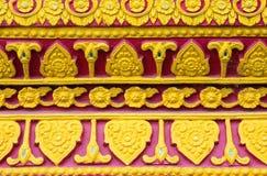 Το σχέδιο αντιμετωπίζεται στο ναό Ταϊλάνδη της Ταϊλάνδης Στοκ φωτογραφία με δικαίωμα ελεύθερης χρήσης