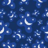 Το σχέδιο είναι φεγγάρι και αστέρια Στοκ Εικόνες