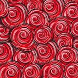 Το σχέδιο κόκκινο αυξήθηκε λουλούδια Στοκ Εικόνες