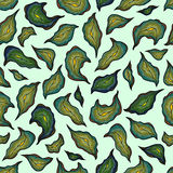 Το σχέδιο με πράσινο μπλε χακί κίτρινο ασβέστη βγάζει φύλλα Στοκ φωτογραφίες με δικαίωμα ελεύθερης χρήσης