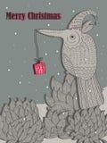Το σχέδιο πουλιών στέλνει το δώρο… σε _eps Στοκ εικόνες με δικαίωμα ελεύθερης χρήσης